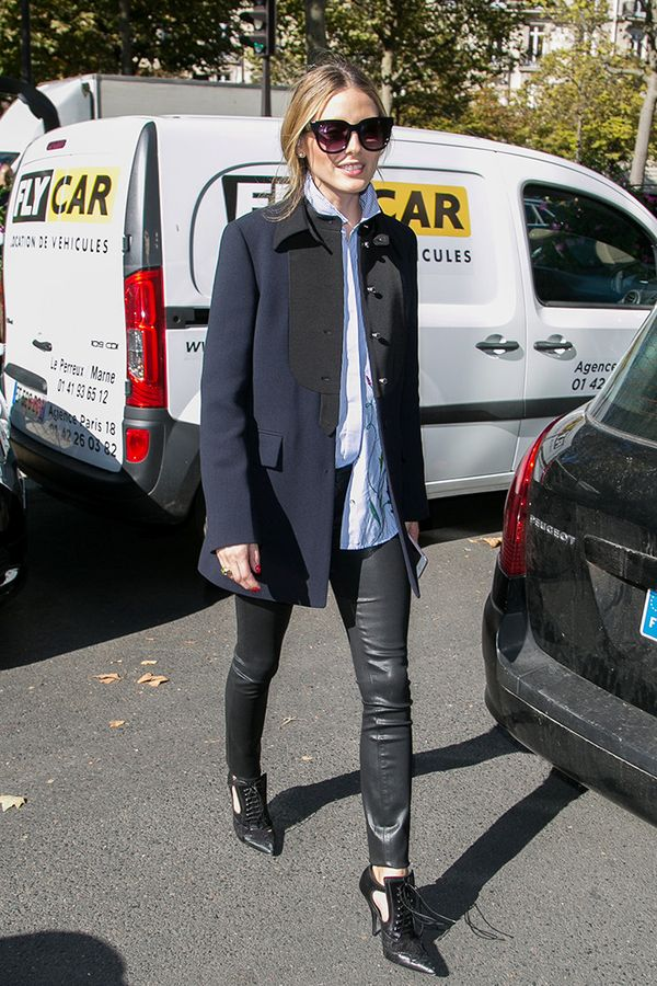 olivia palermo leather leggings coat