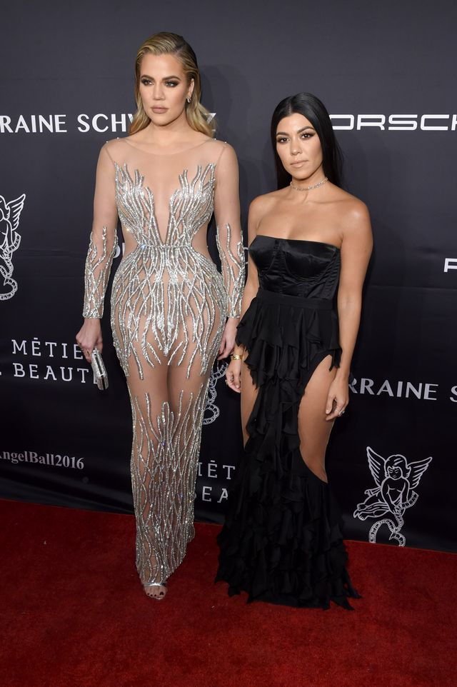 Khloé and Kourtney Kardashian at the 2016 Angel Ball in New York City.