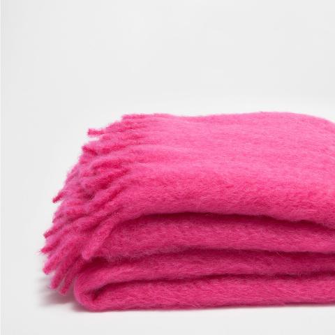 Fringed Mohair Blanket
