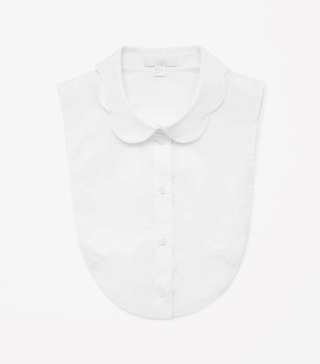 COS Mock Shirt with Scallop Collar