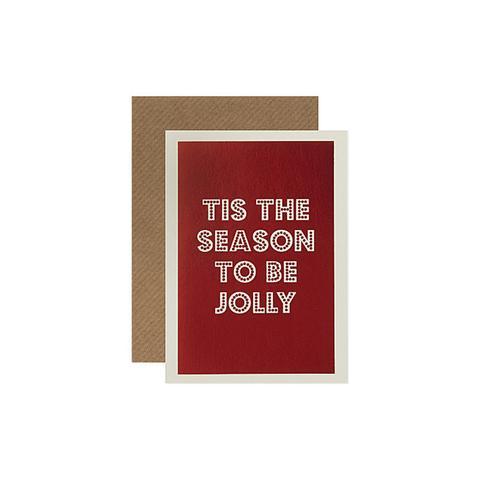 Tis the season christmas cards set of six