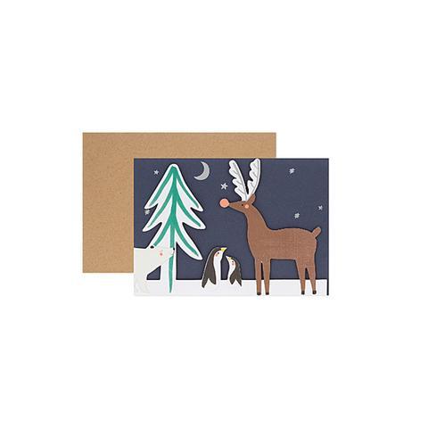 Woodland concertina christmas card