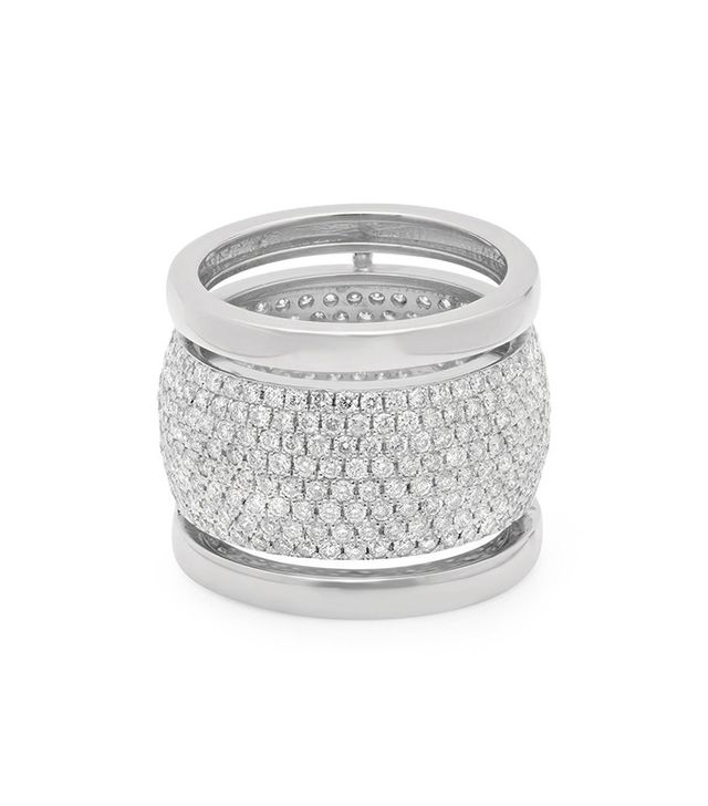 Established Jewelry Trio Ring With Diamonds