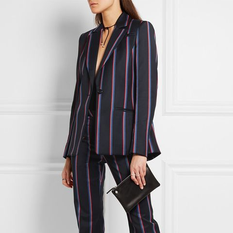 Acacia Striped Wool and Cotton Blazer