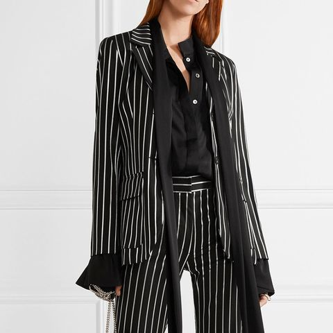 Eorchestre Pinstriped Stretch-Twill Blazer