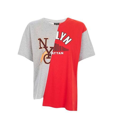 College Spliced T-Shirt
