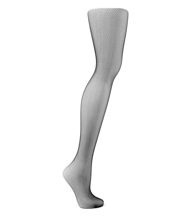 Fishnets under jeans trend: Wolford Twenties Fishnet Tights