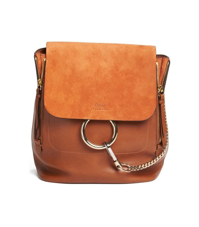 Chloé Medium Faye Suede and Leather Backpack