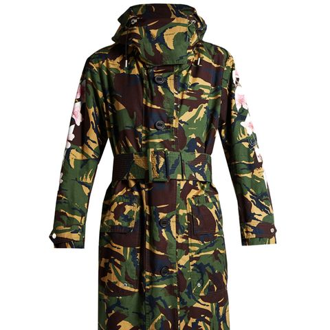 Oversized Camouflage-Print Parka