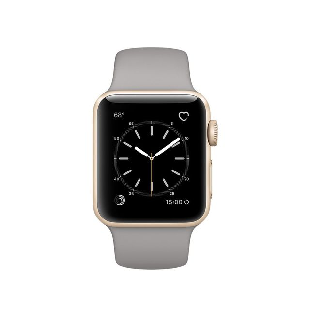 Apple 38mm Watch Series 2 Gold Aluminum Case with Concrete Sport Band