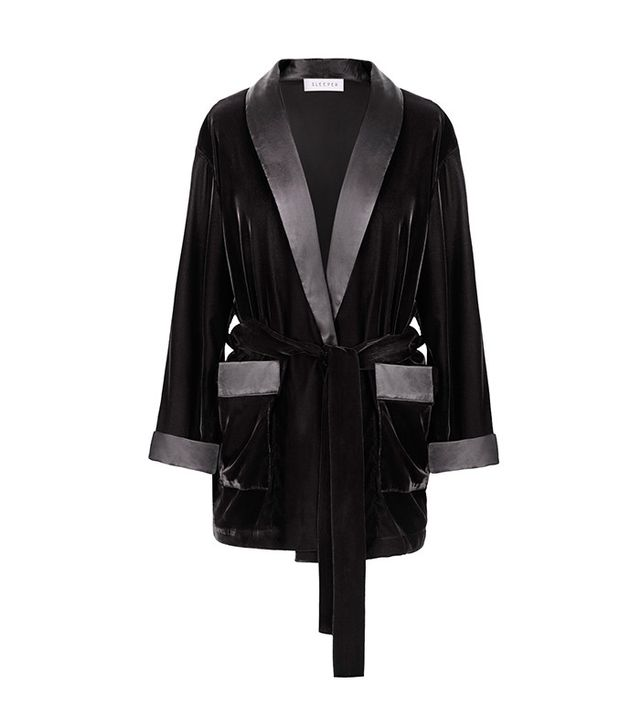 Sleeper Siberia Black Velvet Robe