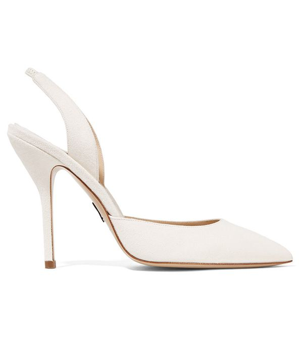 Paul Andrew Passion Suede Slingback Pumps