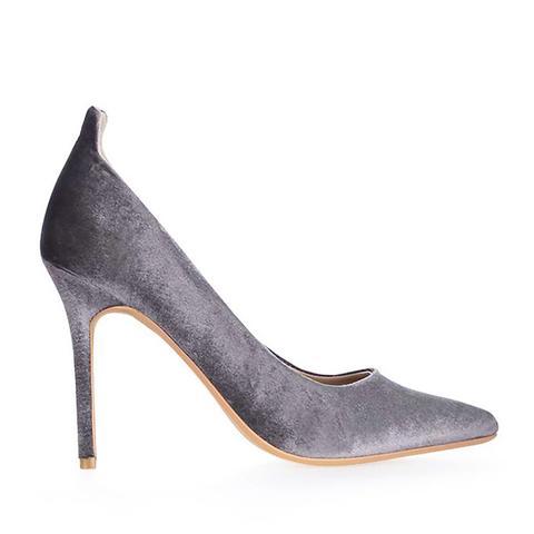 Gardenia Velvet Court Shoes