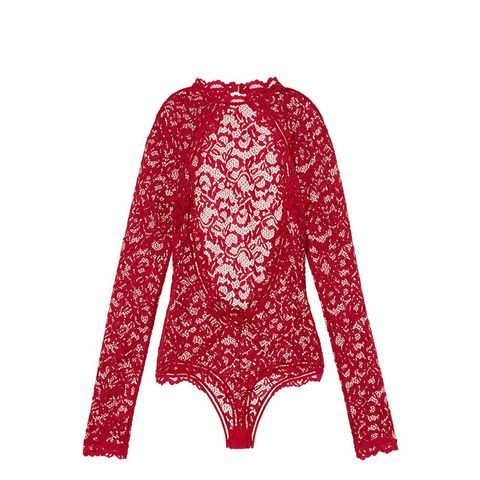 Long Sleeve Lace Bodysuit
