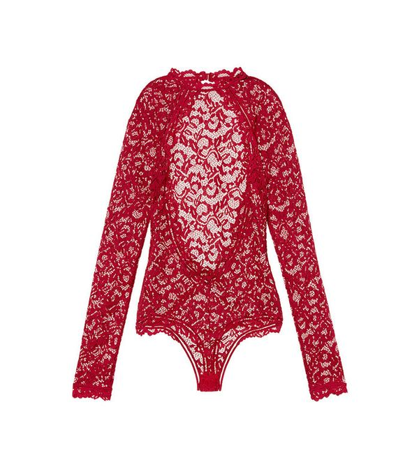 Victoria's Secret Long Sleeve Lace Bodysuit