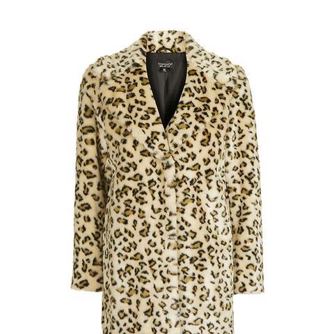 Casual Leopard Coat