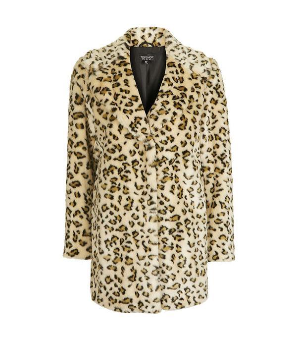 Topshop Casual Leopard Coat