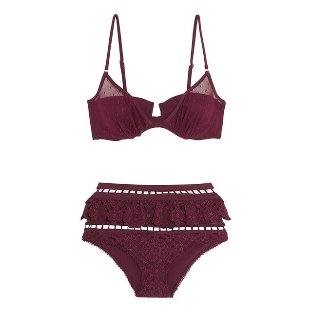 Zimmermann Good Times Lace and Broderie Anglais Bikini