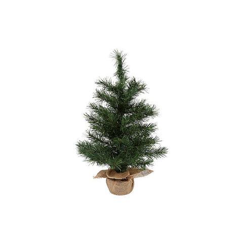 Mini Table Burlap Christmas Tree 61 cm
