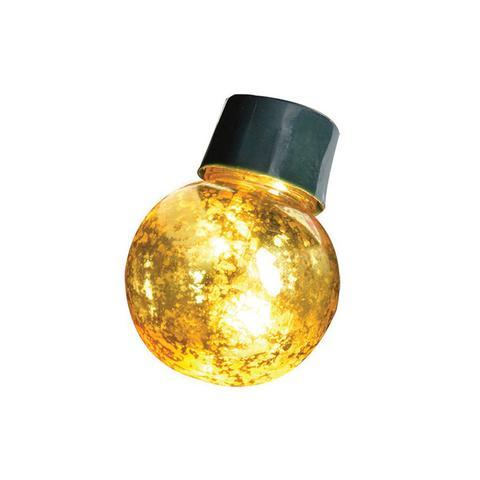 20 LED Gold Crackle Ball Lights