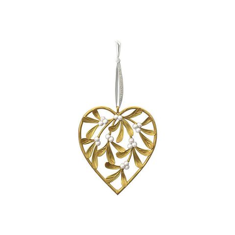 Hallmark Our First Christmas Heart-Shaped Mistletoe Ornament