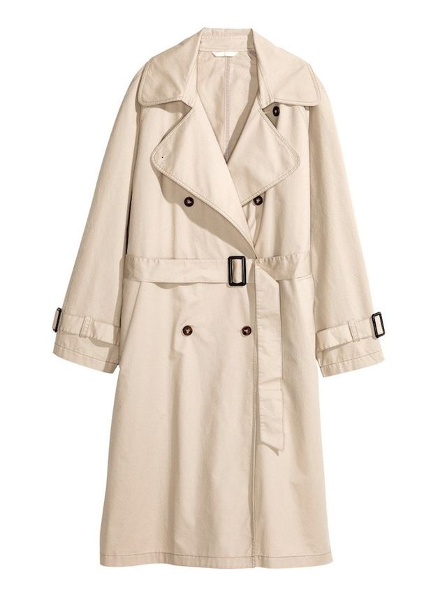 H&M Cotton Trenchcoat