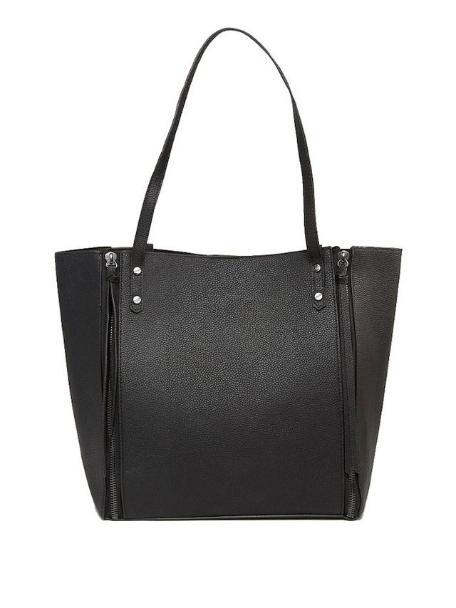Pieces Tote Bag With Side Zip Detail and Removable Inner Pouch
