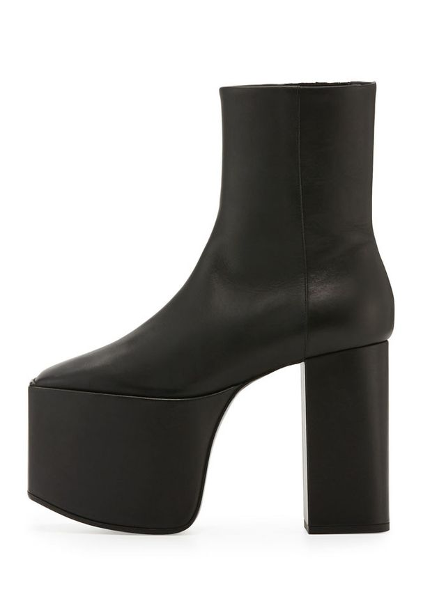 Balenciaga Wayio Leather Super Platform Bootie