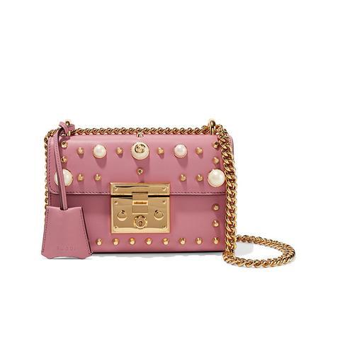 Padlock Mini Embellished Leather Shoulder Bag