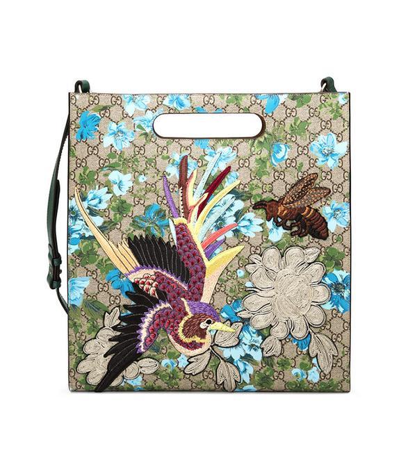 Gucci XL GG Floral Print Tote