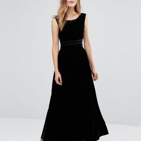Sleeveless Velvet Maxi Dress