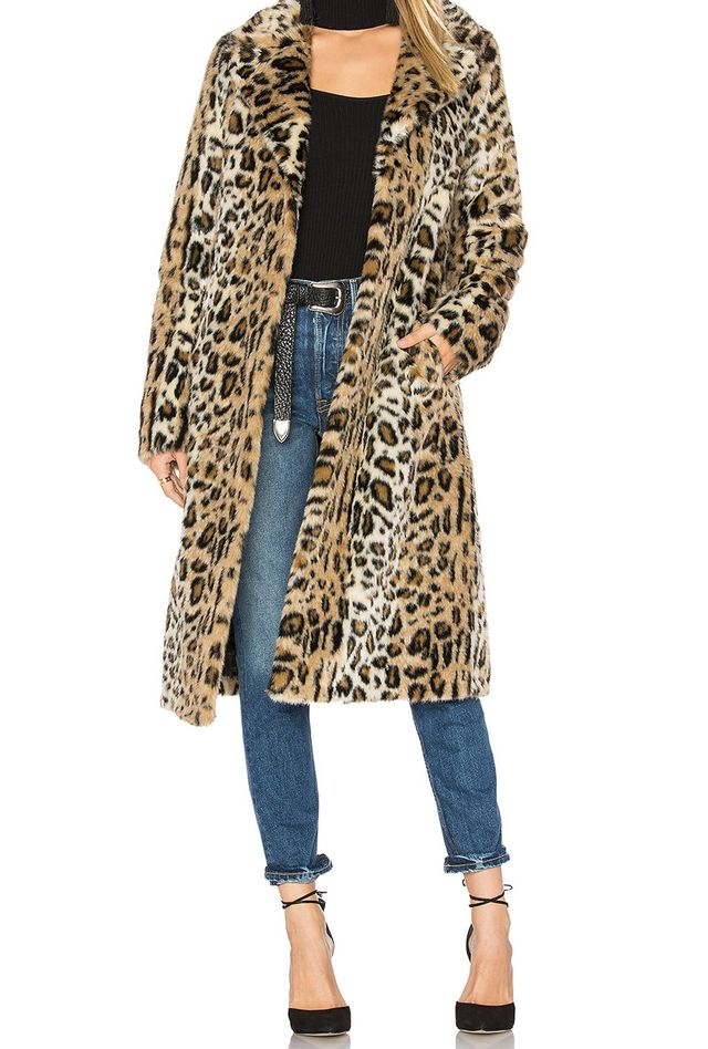 Majorelle Fifi Faux Fur Leopard Coat