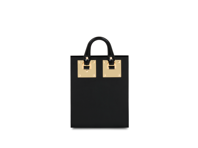 Sophie Hulme Black Compton Evening Tote
