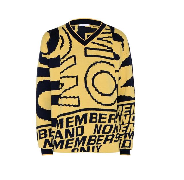 Stella McCartney Yellow Members Only Print Jumper