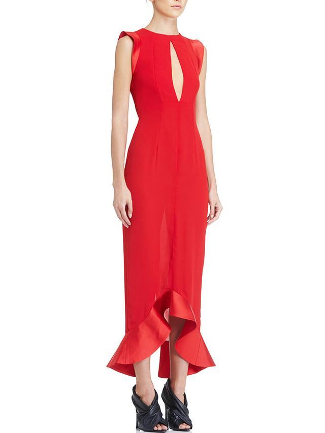 AQ/AQ Pierre Frill Hem Midi Dress