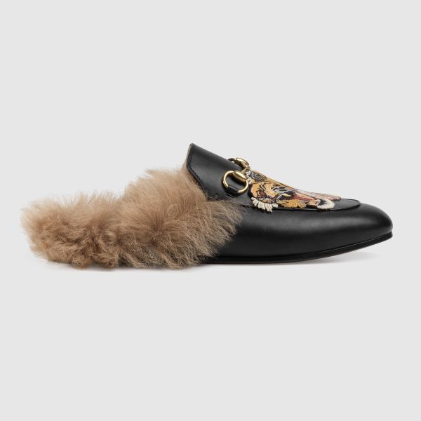 Gucci Princetown Snake Slippers