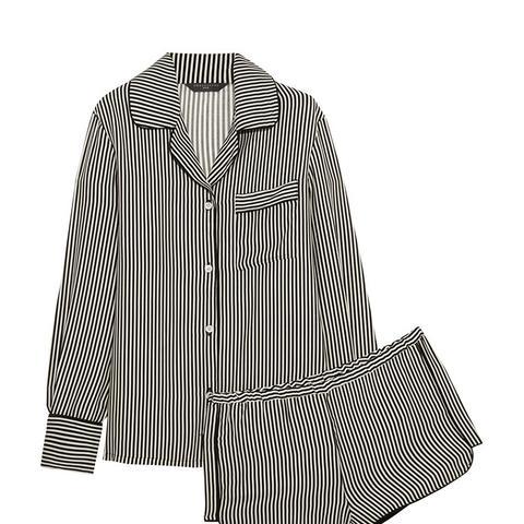 Jane Striped Silk Pajama Set