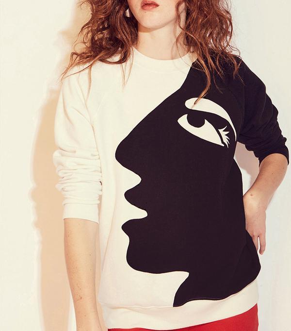 Monogram Profile Relaxed Fit Sweatshirt