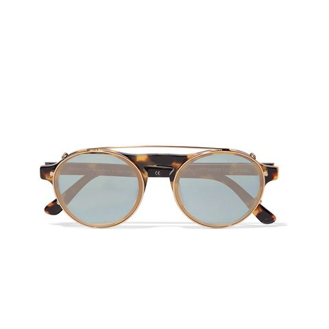 Dyad 6 Aviator-Style Acetate And Gold-Tone Sunglasses