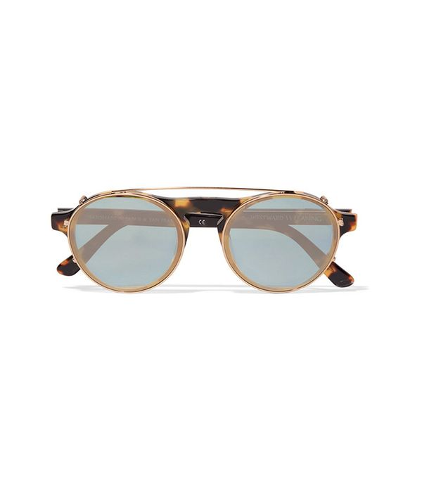 Westward Leaning Dyad 6 Aviator-Style Acetate And Gold-Tone Sunglasses