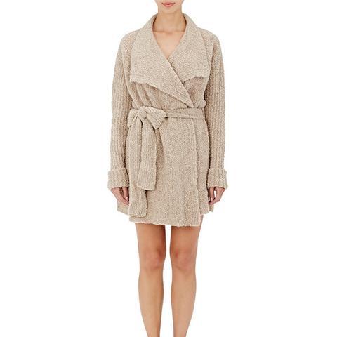 Alpaca-Blend Wrap Sweater