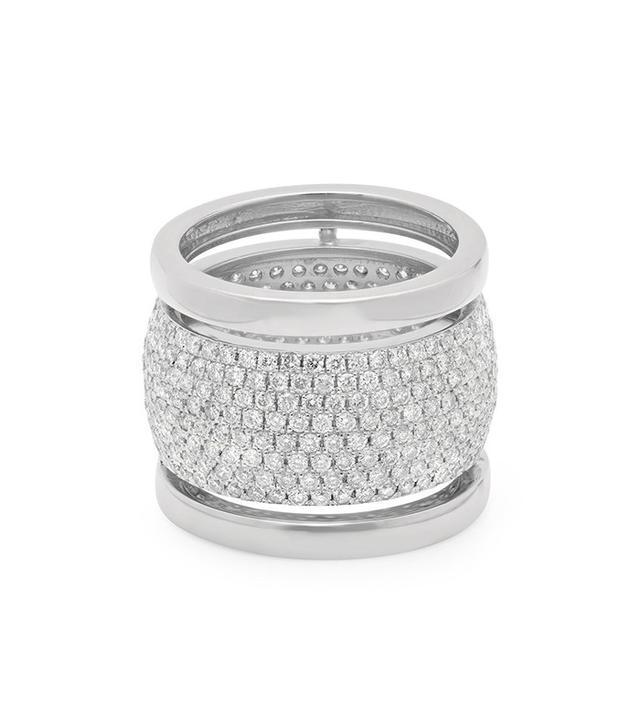 Established Jewelry Trio Ring with Diamonds