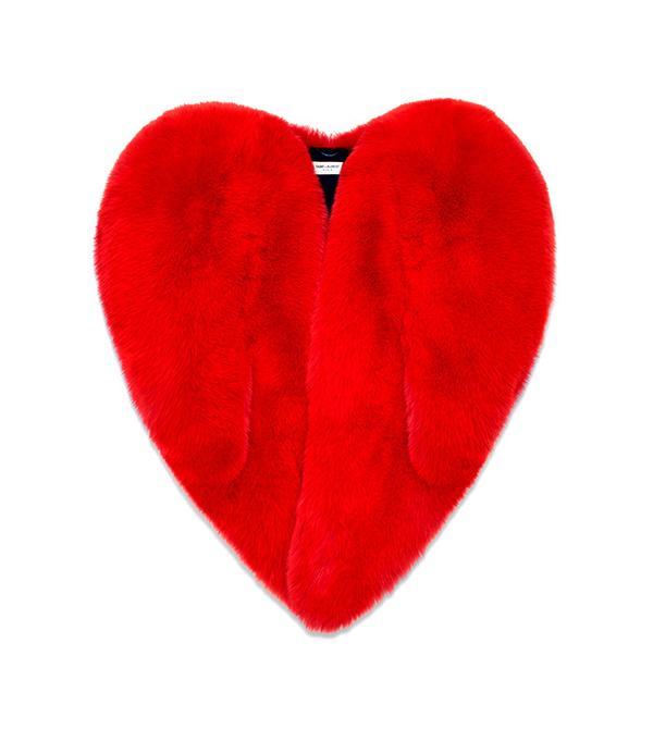 Saint Laurent Fox Fur Coat