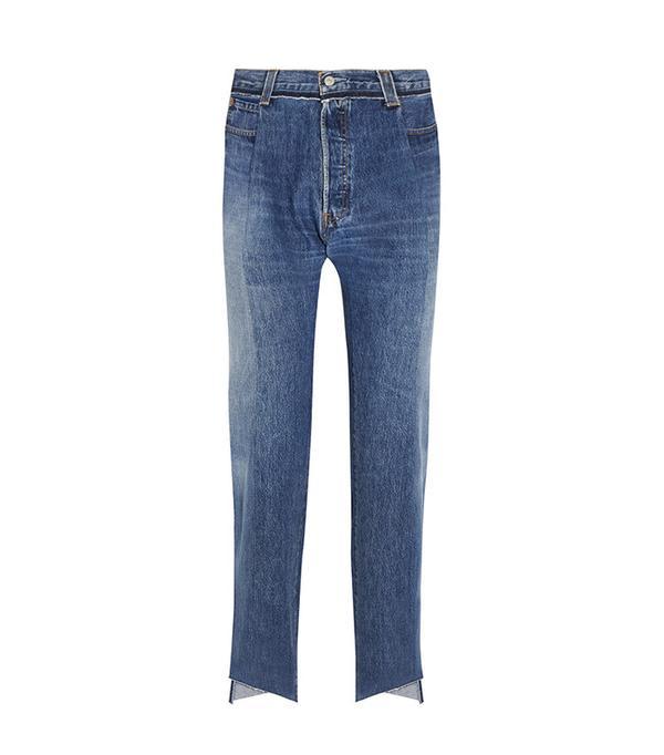 Vetements Reworked High-Rise Slim-Leg Jeans