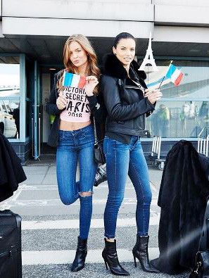 What the Victoria's Secret Angels Are Wearing to Fly to Paris