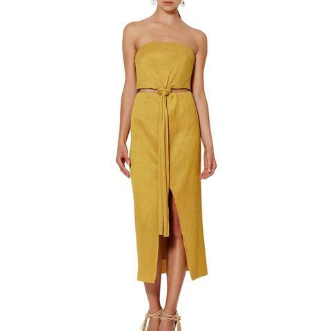 Marigold Strapless Dress