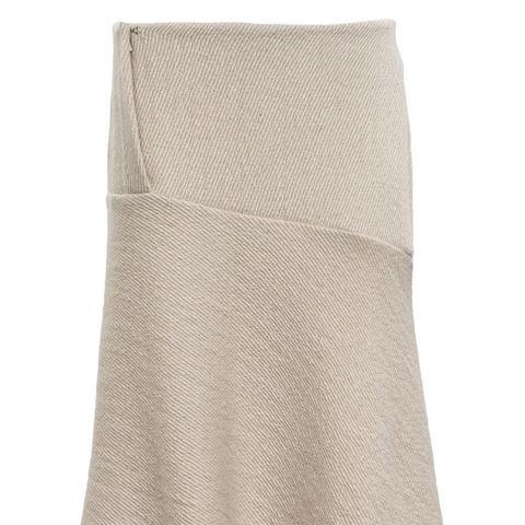 Bias Cut Wool Skirt
