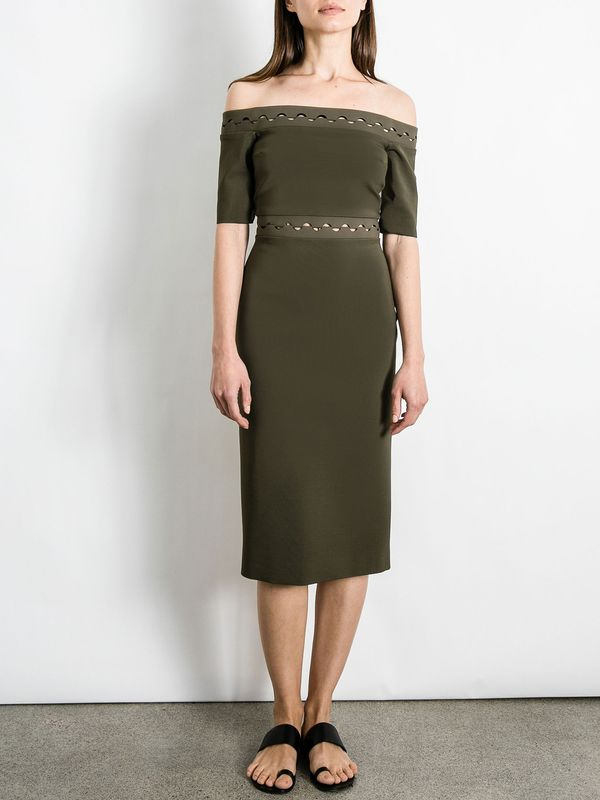 Dion Lee Eclipse Laced Shoulderless Dress