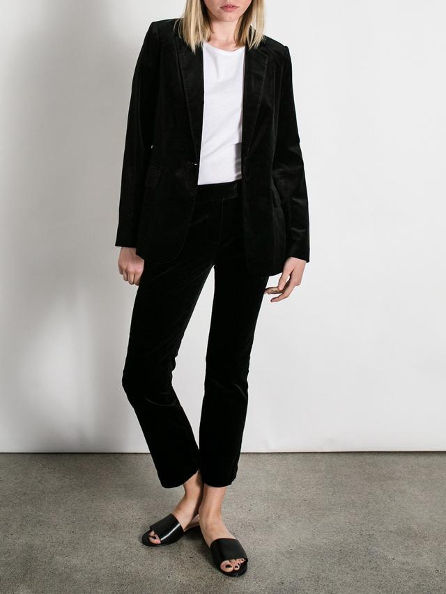 Frame Denim Le Velvet Black Mod Blazer