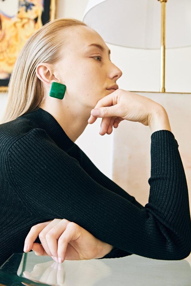 Mercantile Vintage Ocean Green Earrings